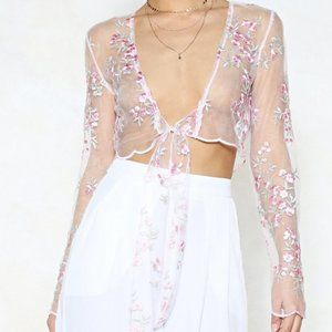 You're Knot the Boss Mesh Crop Top